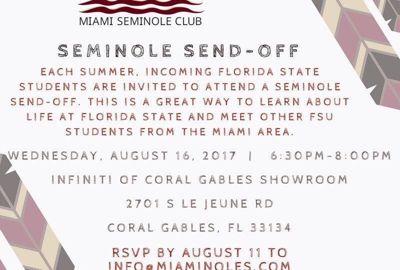 Seminole Sendoff 8-16-17